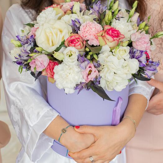 """Коробка с цветами """"Дамский каприз"""""""