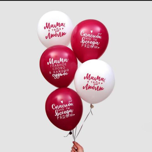 Набор из 5 воздушных шаров для мамы
