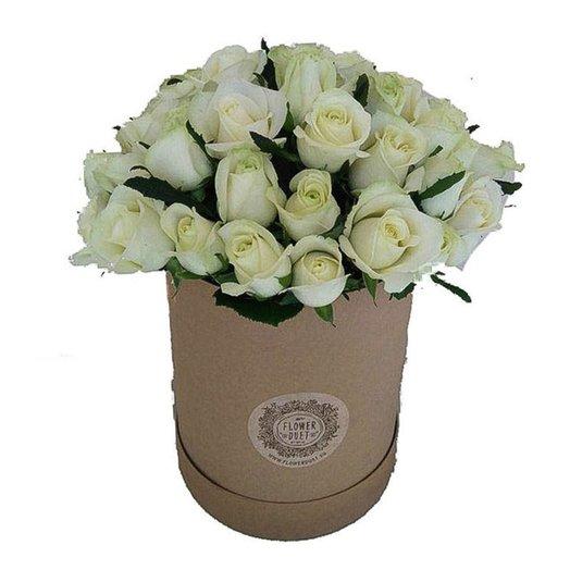 Средний бокс Kraft: букеты цветов на заказ Flowwow