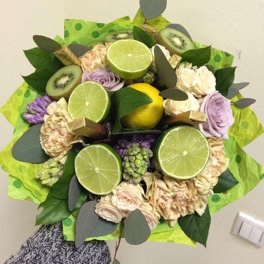 фруктово цветочный букет 2