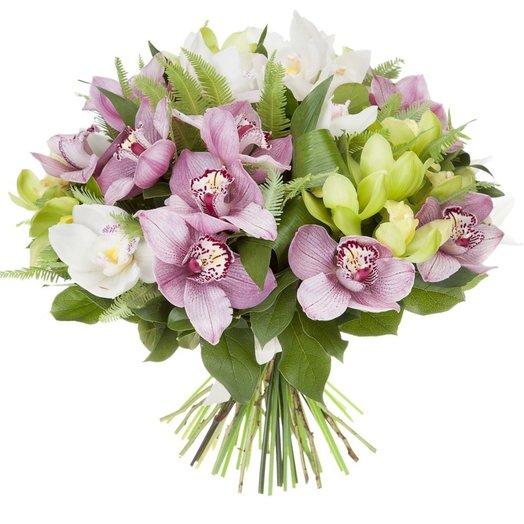 Букет из орхидей Бурлеск: букеты цветов на заказ Flowwow