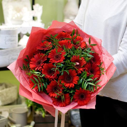 Букет цветов Красные герберки
