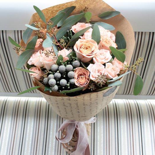 Кофейный бриз: букеты цветов на заказ Flowwow