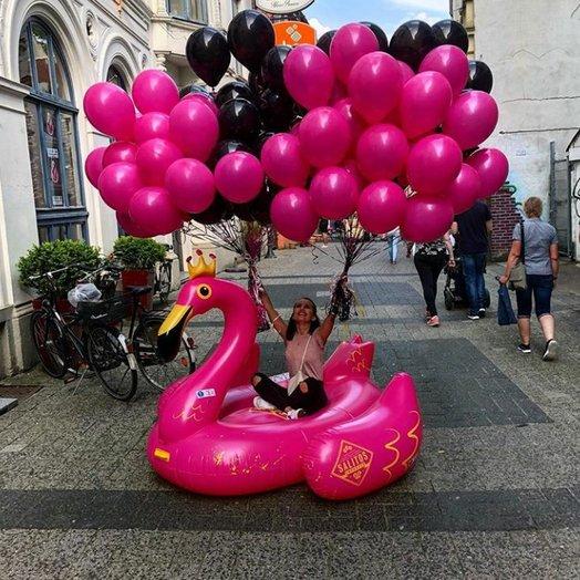 Дерзкий микс 55 воздушных шаров шаров: букеты цветов на заказ Flowwow