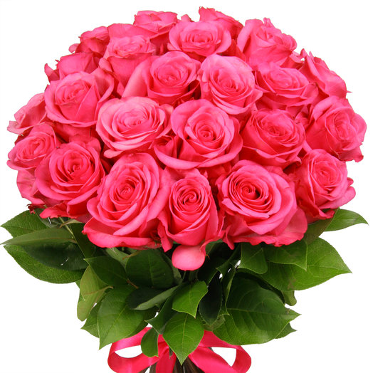 25 розовых роз: букеты цветов на заказ Flowwow