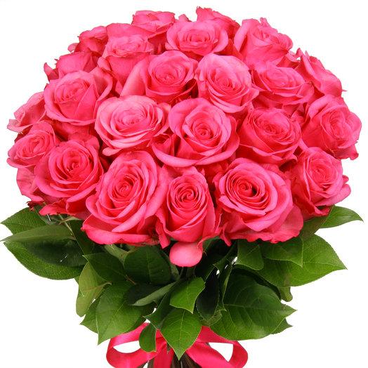 Букет из 25 розовых эквадорских роз: букеты цветов на заказ Flowwow