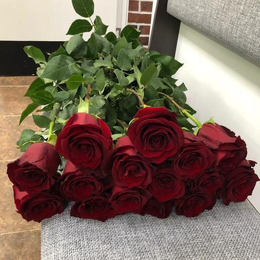 Роза Эксплорер 15шт: букеты цветов на заказ Flowwow