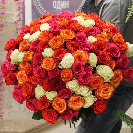 101 роза Эквадор: букеты цветов на заказ Flowwow