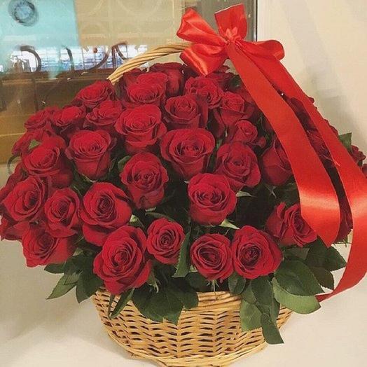 """Корзина """" Это любовь"""": букеты цветов на заказ Flowwow"""