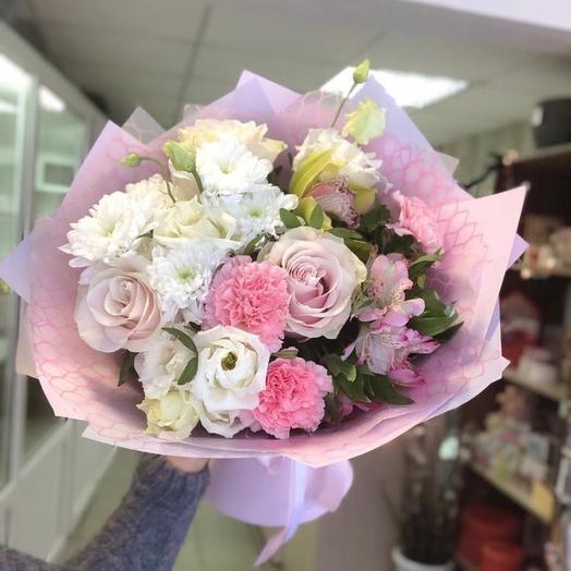 Сборный букет «Нежное чувство»: букеты цветов на заказ Flowwow