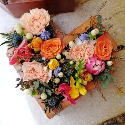 Сердце Артемиды: букеты цветов на заказ Flowwow