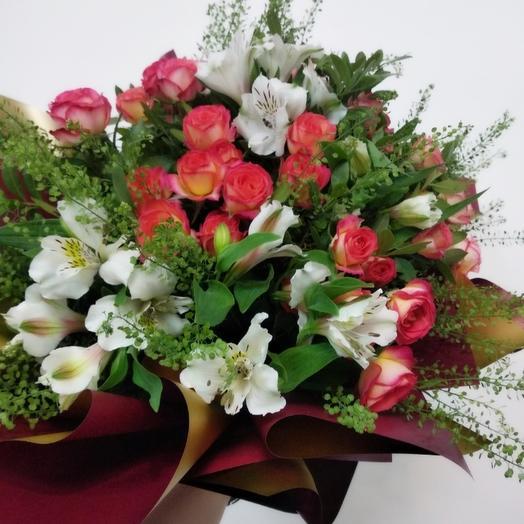 Овальный букет: букеты цветов на заказ Flowwow