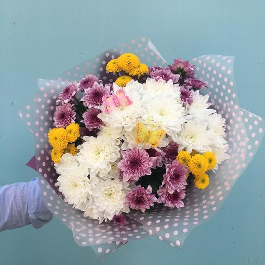 Микс кустовых хризантем💐: букеты цветов на заказ Flowwow