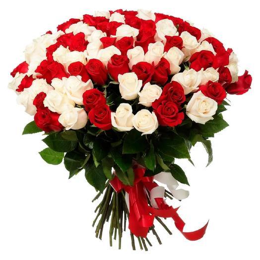 Розы Голландия 60см 101 шт: букеты цветов на заказ Flowwow