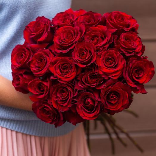 Роза красная 21: букеты цветов на заказ Flowwow