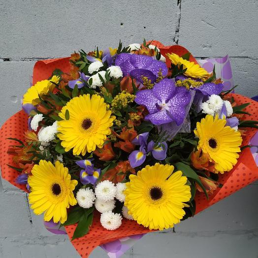 """Авторский букет """"Осенний вальс цветов"""": букеты цветов на заказ Flowwow"""