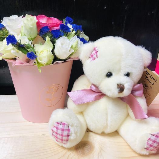 Мишка «Цветочек»: букеты цветов на заказ Flowwow