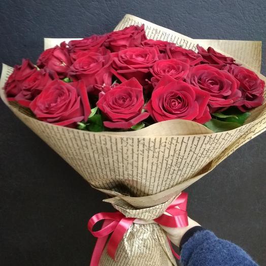 Букет из 15 роз местных