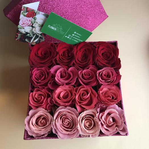 Box with roses: flowers to order Flowwow