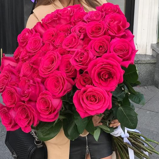 Bouquet of 51 roses of Pink Floyd (Pink Floyd) 80cm