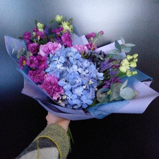 Голубой букет: букеты цветов на заказ Flowwow