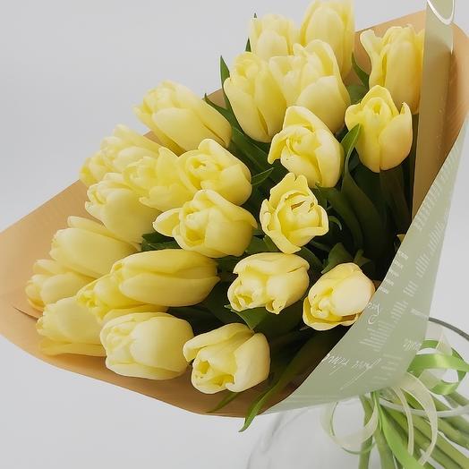 Лимончелло: 25 тюльпанов: букеты цветов на заказ Flowwow