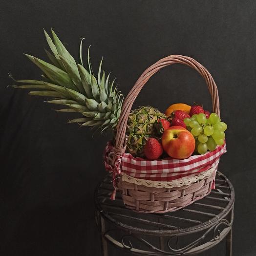 "Корзина фруктов""Греческий завтрак"": букеты цветов на заказ Flowwow"