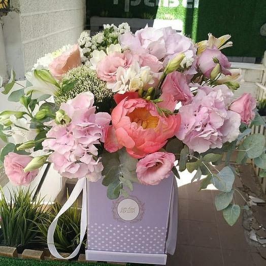 Нежная розовая композиция