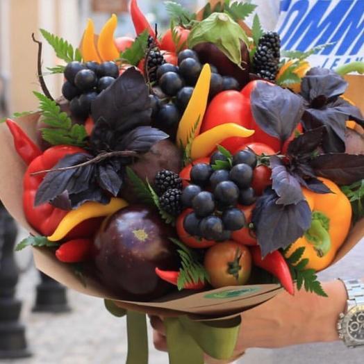Вкусный букет из овощей и фруктов,,Микс