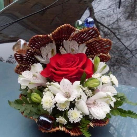 Ракушка с цветами