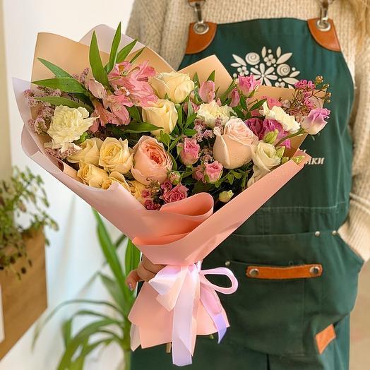 Букет с английской розой