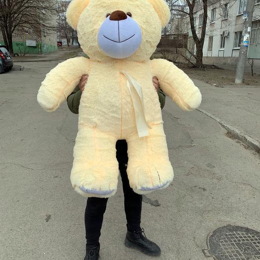 Плюшевий ведмедик 130 см персиковий