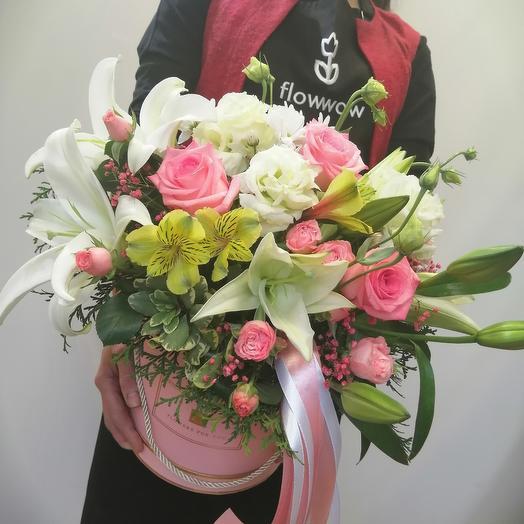 Цветы в коробке XL