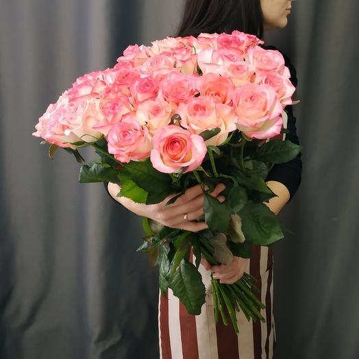 """Букет""""35 розовых роз 70см"""""""