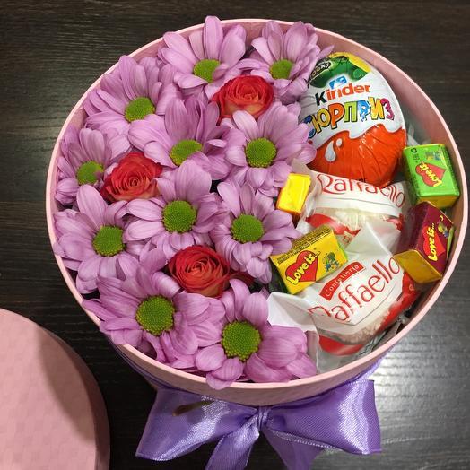Цветы в коробке 00607