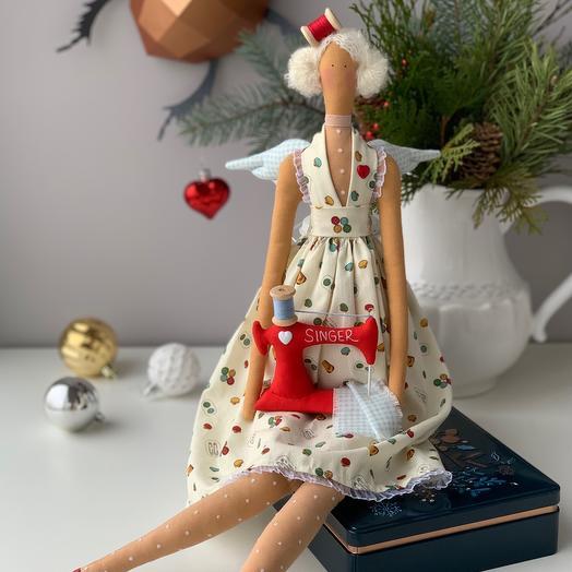 Интерьерная кукла Тильда - Жанетт (швейная фея)