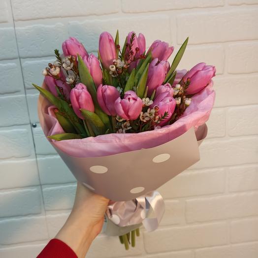 Стильный с тюльпанами