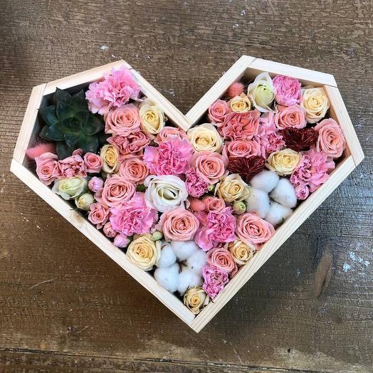 """Цветочное сердце """"Любовь"""""""