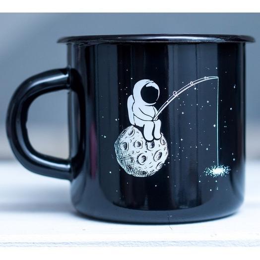 Кружка эмалированная Космонавт