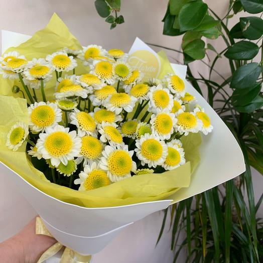 Букет хризантем «Солнце в подарок»