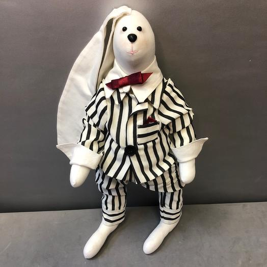 Заяц джентельмен 40 см
