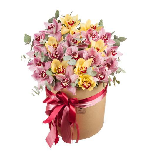 """Шляпная коробка из орхидей """"Императрица"""""""