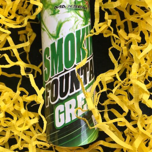 Зелёный дымный факел