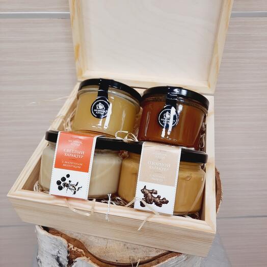 """🌱Коллекция """"4 мёда"""" в деревянной шкатулке"""