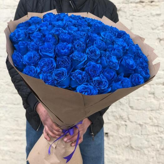 Букет из синих роз