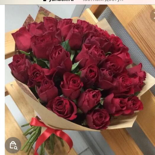 25 красных роз Кения