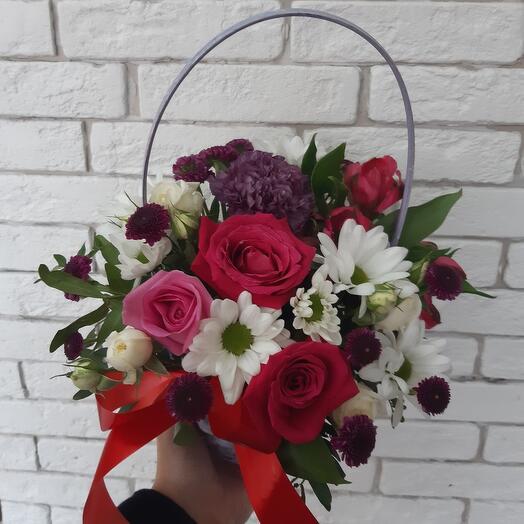 Корзина с цветами 22