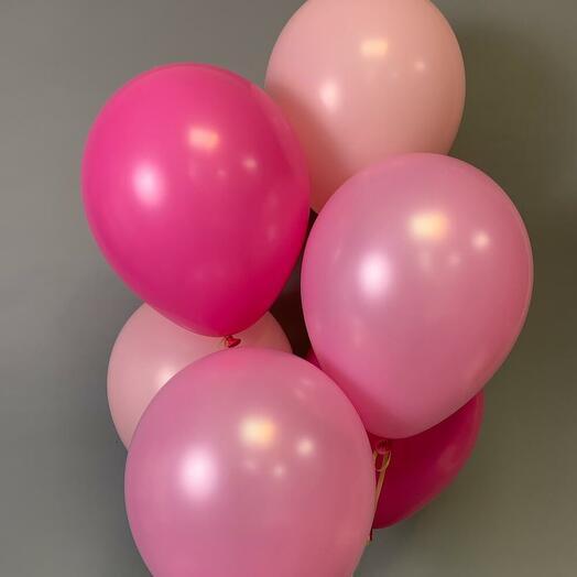 Набор из 6 розовых шаров