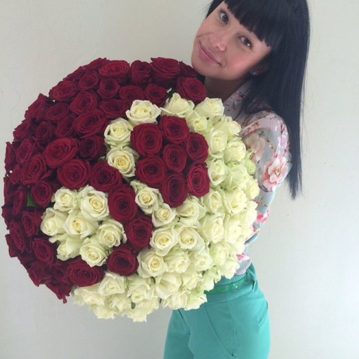 101 роза Инь Ян