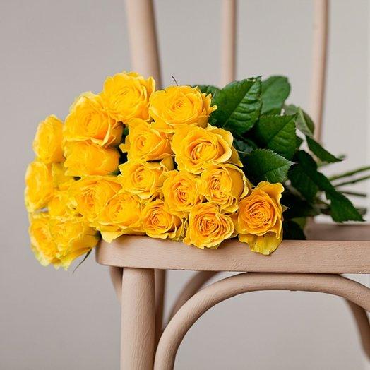 Букет из 19 желтых роз 60 см: букеты цветов на заказ Flowwow